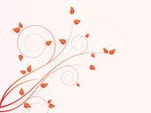 Floral seizoensgebonden achtergrond met wervelingen — Stockvector