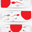 Royalty-Free Stock Vector Image: Ovum and spermatozoon. Fertilization