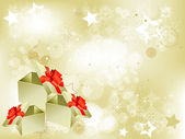 Elegant Christmas abstract background with snowflakes — Stockvektor