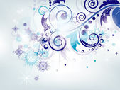 Elegant Christmas abstract background with snowflakes — Stock Vector