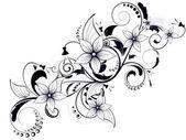 Element kwiatowy wzór z swirls na wiosnę — Wektor stockowy