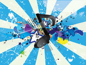 Music grunge poster — Stock Vector