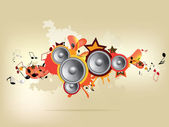 Abstract colored musical background — Stock Vector