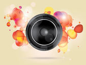 Music background with subwoofer — Stock Vector