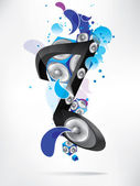 Abstract music backgroud with notes — Stock Vector