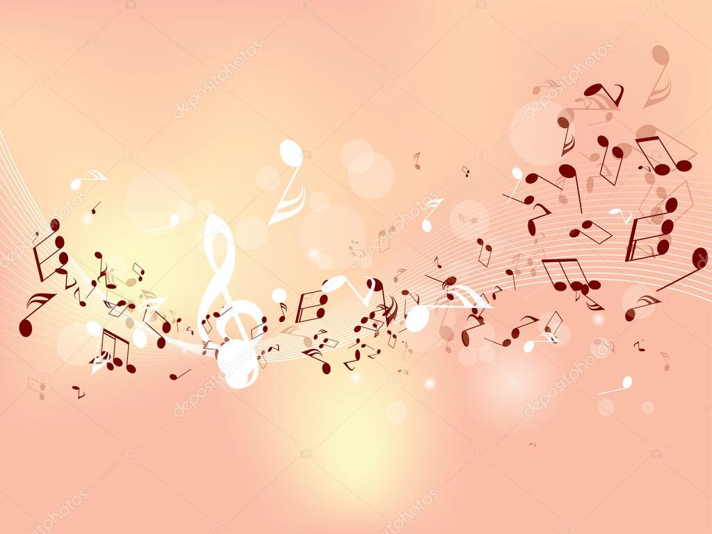 Abstract design background with colorful music notes ...