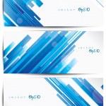 Set de cabeceras web colorido abstractos y tarjetas — Vector de stock