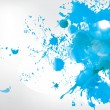 Colored paint splashes  on abstract background - Stock Vector