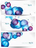 Set of abstract colorful web headers and cards — Stock Vector