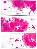 抽象的なカラフルな web ヘッダーとカードのセット — ストックベクタ