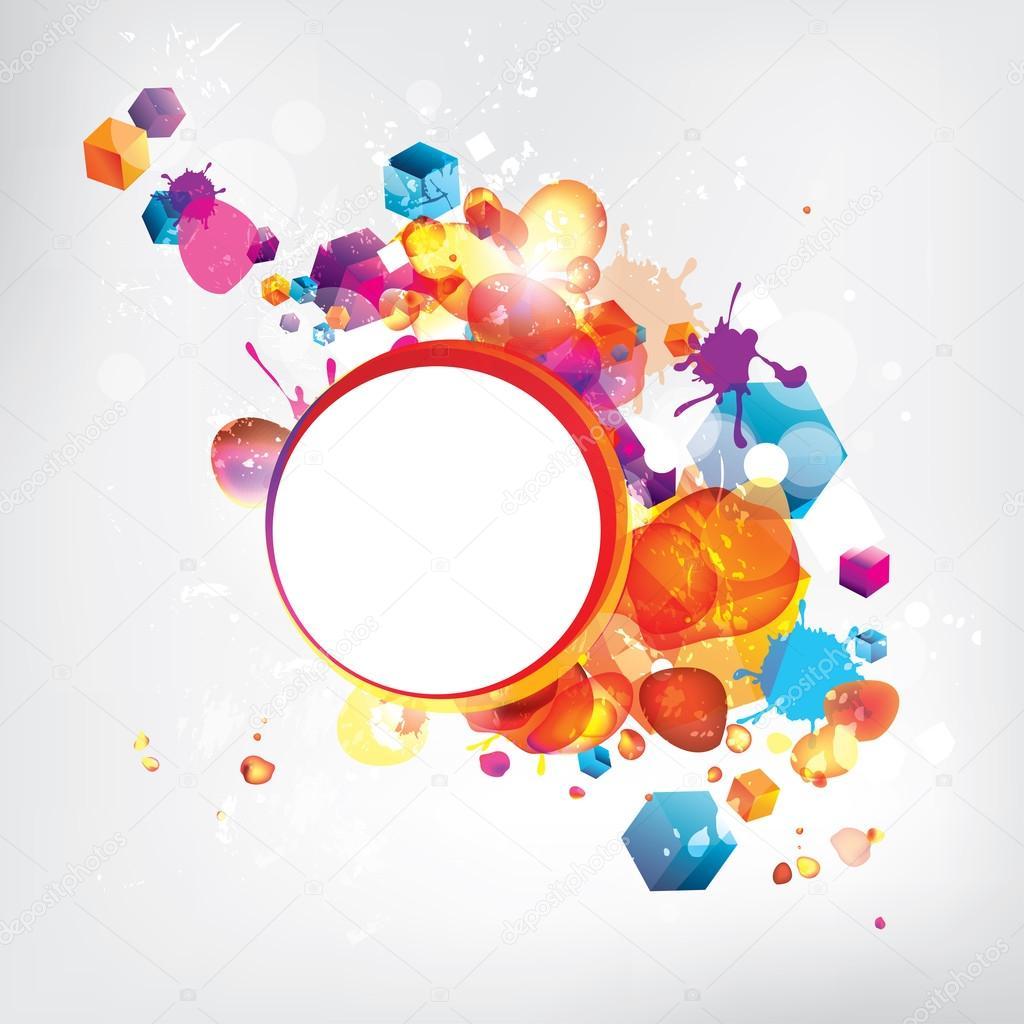 与彩色元素抽象背景
