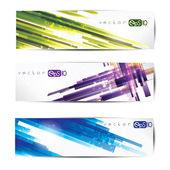 Set di intestazioni web colorato astratto e carte — Vettoriale Stock