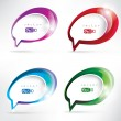 Abstract background with speech bubble — Stock Vector