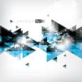 Abstrakt blå geometrisk bakgrund — Stockvektor