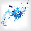 Abstract musical background with notes — Stock Vector #28222853