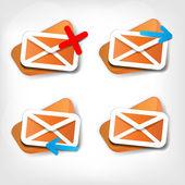 Web letterpictogram — Stok Vektör