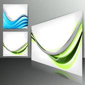 Zestaw streszczenie banery z linie i elementy geometryczne — Wektor stockowy