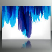 Banner with splash on abstract background — Stock Vector