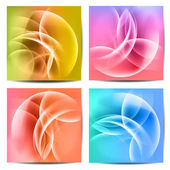 Abstract colored wave on background — Stock Vector