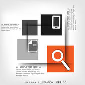Blank for text with infographic elements — Stock Vector