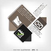 бланк для текста с элементами инфографика и веб-иконки — Cтоковый вектор
