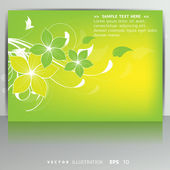 Card with floral background — Stock Vector