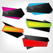 Polygonal origami speech bubbles — Stock Vector