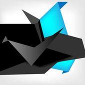 Konuşma balonları poligonal origami kağıt — Stok Vektör