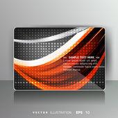 色付きの線を持つカード — ストックベクタ