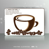 Card with cup of coffee or tea — Stock Vector