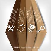 Tomt för text med infographic element — Stockvektor