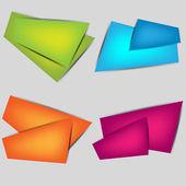 Bolhas do discurso de origami poligonal — Vetorial Stock