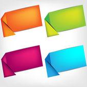 полигональные оригами речи пузыри — Cтоковый вектор