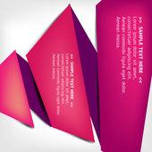 Polygonal origami pratbubblor — Stockvektor
