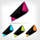 Polygonal speech banner — Stock Vector