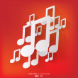 Abstract background with music web icon,flat design — Stock Vector