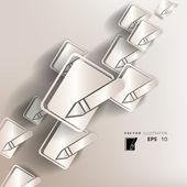 メモ帳 web アイコン、フラットなデザインで用紙の背景 — ストックベクタ
