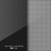 Metalen achtergrond met koolstof textuur — Stockvector