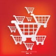 Stock Vector: Shopping basket icon