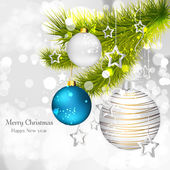 Noel topları ile arka plan — Stok Vektör