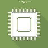 Microchip web icon — Stock Vector
