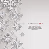 абстрактный рождественский фон со снежинками — Cтоковый вектор