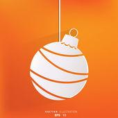 Christmas ball icon — Stock Vector