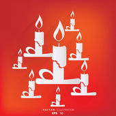 Candle web icon — Vector de stock