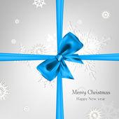 用弓的抽象圣诞节背景 — 图库矢量图片