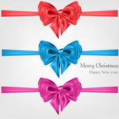 Abstract christmas background with bow — Stock Vector