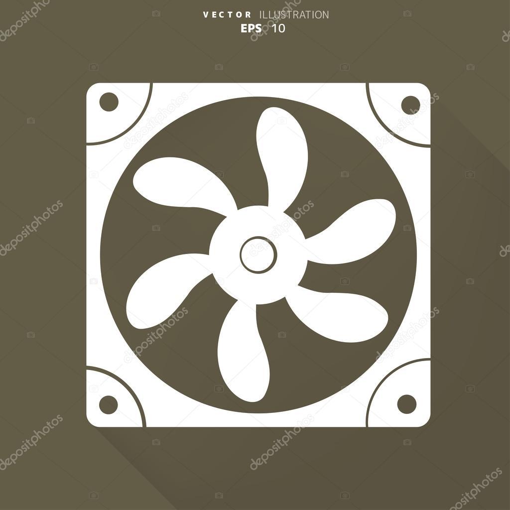 计算机冷却风扇图标 — 矢量图片作者 floral_set