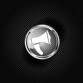 Loudspeaker icon. Microphone symbol — Vector de stock