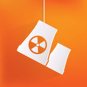 Atomic power station icon — Stock Vector