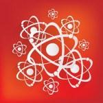 Molecule, atom icon — Stock Vector